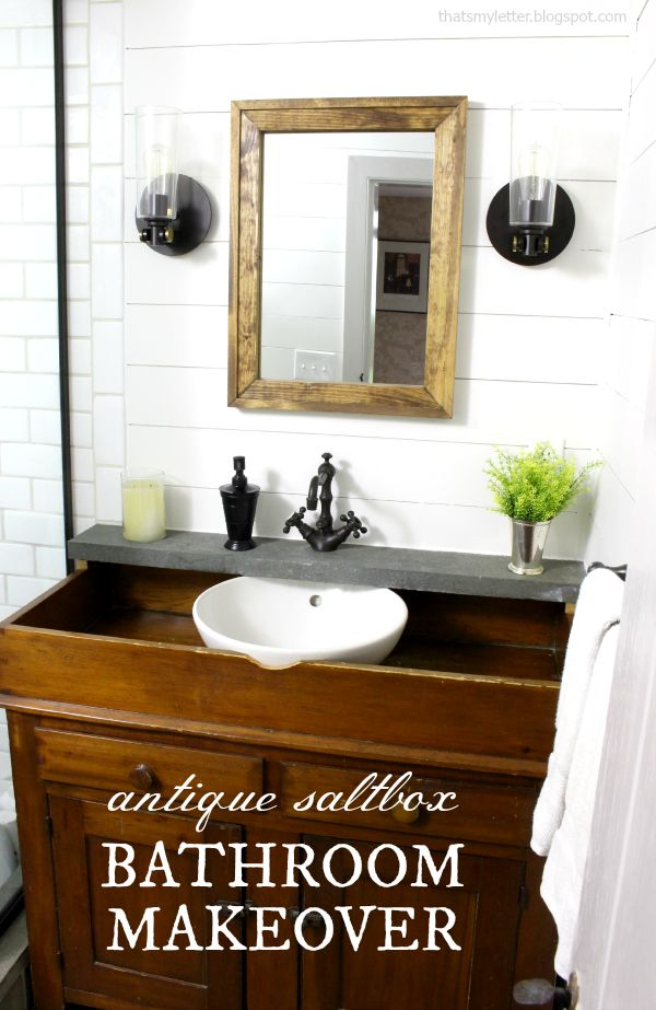 antique saltbox bathroom makeover