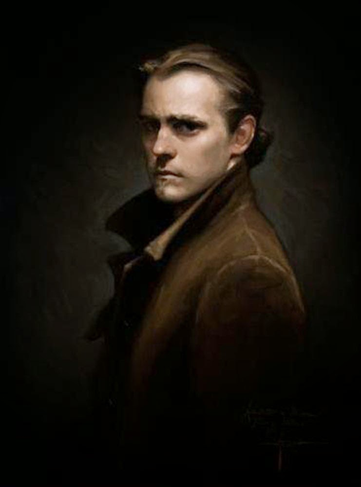 Justin Hess, Self Portrait, Portraits of Painters, Fine arts, Painter Justin Hess