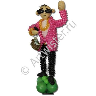 Новый Русский фигура из воздушных шаров
