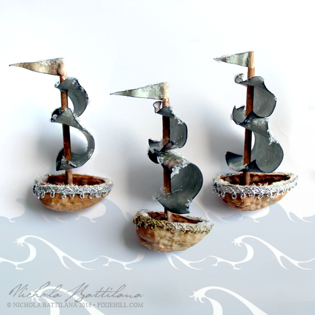 Walnut Sailing Ship - Nichola Battilana