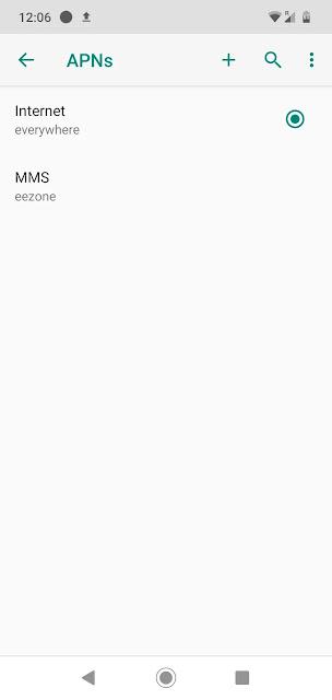 بيانات الجوال لا تعمل على Android ، قم بتغيير إعدادات Apn