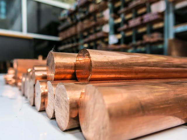 Copper material metal raw