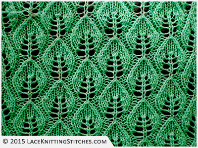 #LACE KNITTING No.3 | Embossed Leaf Lace stitch