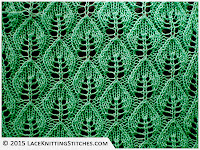 LACE KNITTING #3 | Embossed Leaf Lace stitch