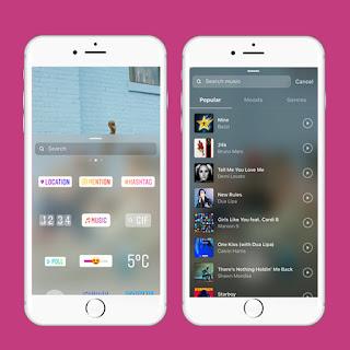 un sticker permite agregar música a tus historias de instagram