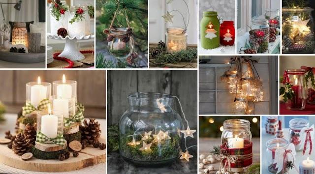 40+ Χριστουγεννιάτικες ιδέες με Γυάλινα Βάζα