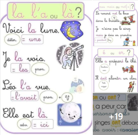ملخص فرنسية سنة 4 و5 ابتدائي