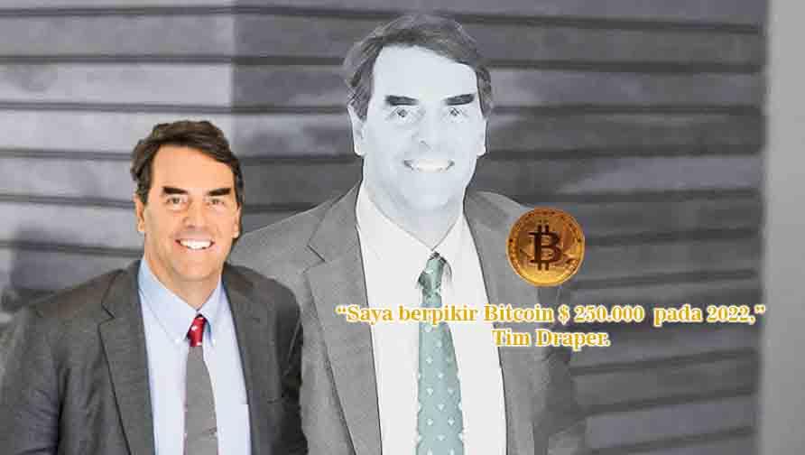 Draper Target Harga Bitcoin $250.000 pada 2022