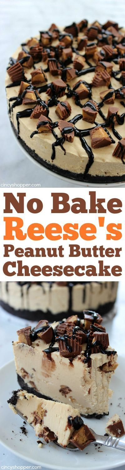 ★★★★☆ 7561 ratings   NO BAKE REESE'S PEANUT BUTTER CHEESECAKE #HEALTHYFOOD #EASYRECIPES #DINNER #LAUCH #DELICIOUS #EASY #HOLIDAYS #RECIPE #NOBAKE #REESE'S #PEANUT #BUTTER #CHEESECAKE