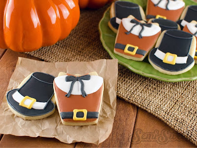 thanksgiving cookies pilgrim shirts hats
