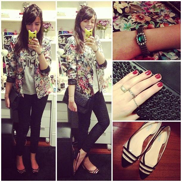 a7c4b9b1e Lia Camargo do blog Just Lia usando sapatilha da nova coleção de Verão  Ferrucci #ferruccilovers