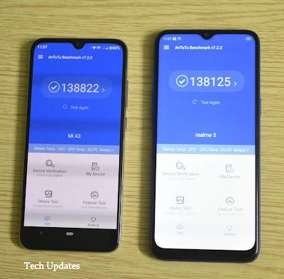 Xiaomi Mi A3 vs Realme 5 Comparison