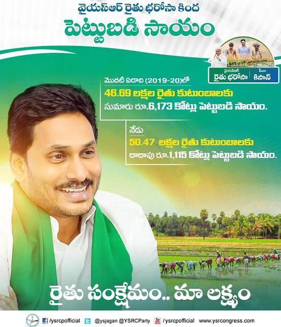 investment support ysr rythu bharosa
