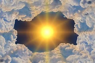 sun, clouds, change around you