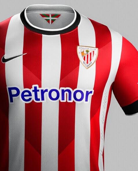 afa251316bbf9 La Camiseta Athletic de Bilbao 1 Equipacion para la temporada 2014 – 2015  que mostrará orgullosa sus franjas rojiblancas y tendrá un diseño clásico.