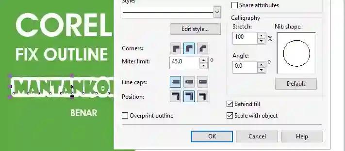 Mengatasi outline font lancit di coreldraw setting - mantankode