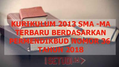 Kurikulum 2013 untuk SMA dan MA Terbaru Berdasarkan Permendikbud Nomor 36 Tahun 2018