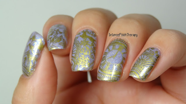 Gold Clock Manicure