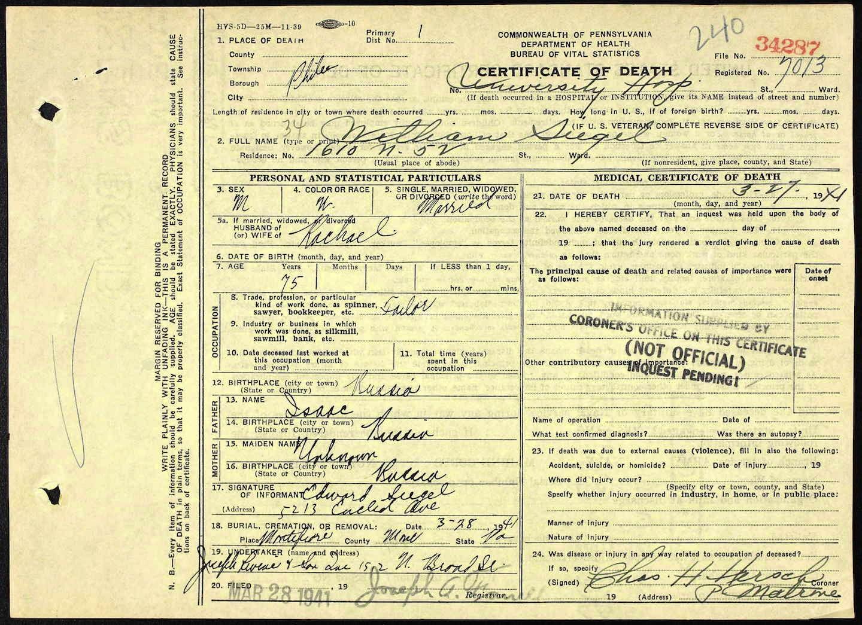 A jewish genealogy journey 2014 ancestry pennsylvania death certificates 1906 1924 provo ut usa ancestry operations inc 2014 ancestry death certificate no 1betcityfo Gallery