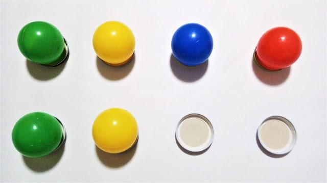 proste układanki lewopółkulowe z piłek i odtwarzanie wzoru