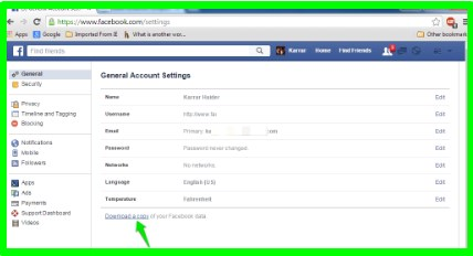 how to backup my facebook data