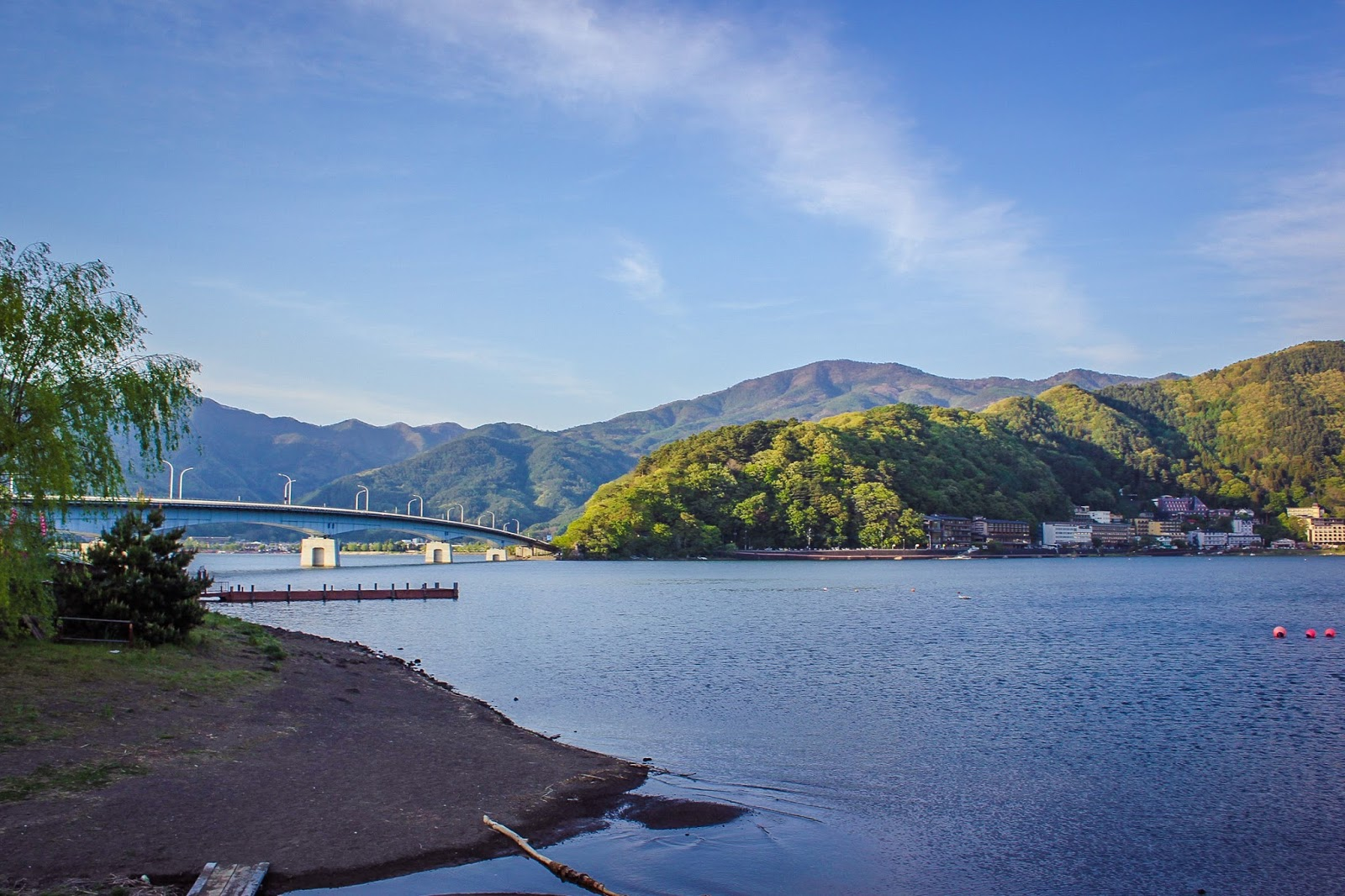 Amazing view at kawaguchi lake japan