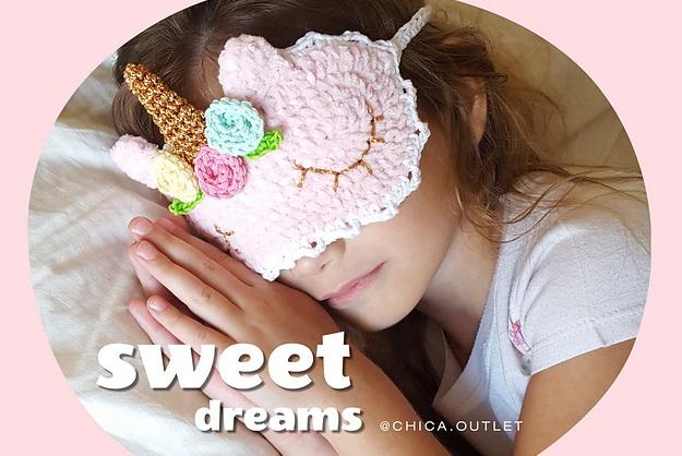 Вязаная детская маска для сна (4)