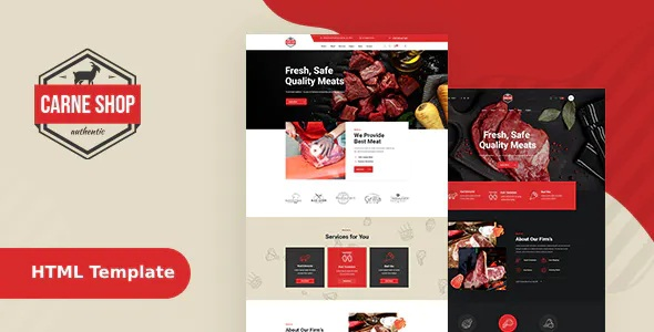 Best Butcher & Meat Shop HTML Template