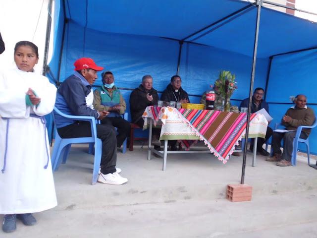 Das Zelt für den Empfang