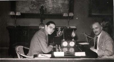 Partida de ajedrez Vasco Santos - Cortés en 1951
