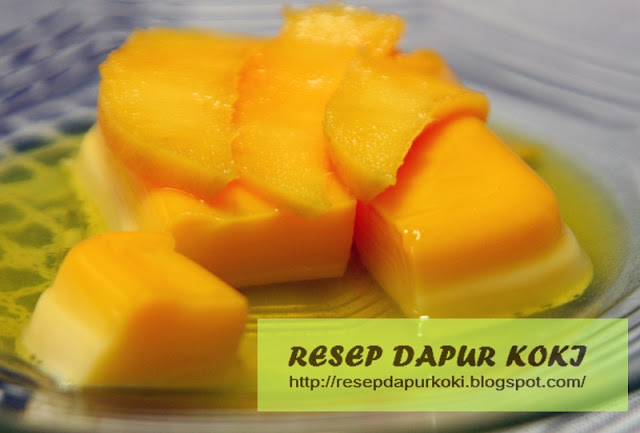 puding mangga, resep puding mangga, cara membuat puding mangga
