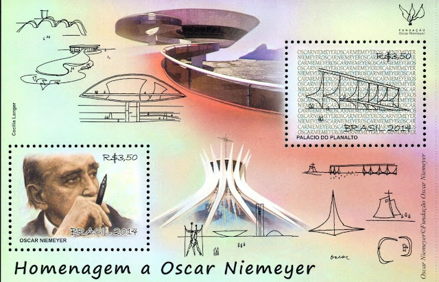 Brazil 2014 Tribute To Oscar Niemeyer, Architecture, Monuments