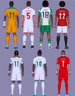 تحميل  اطقم منتخبات افريقيا 2021 للمعشوقة بيس 2017