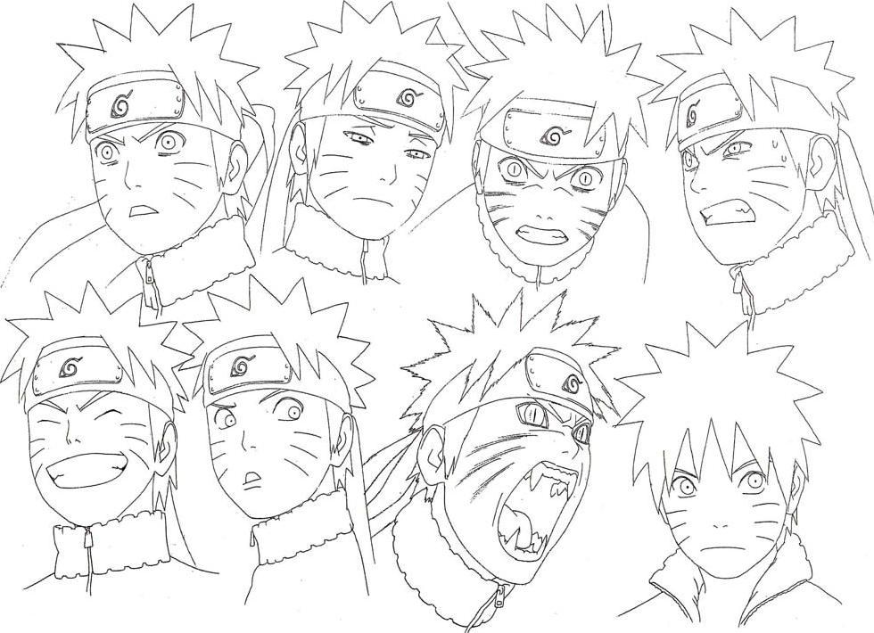 Como Dibujar Naruto Tutorial Para Aprender A Dibujar Cara