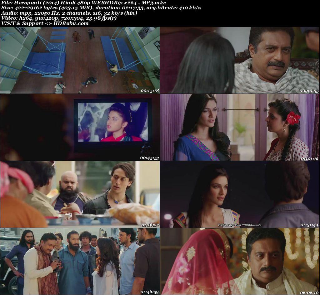 Heropanti (2014) Hindi 480p WEBHDRip x264 - 400mb Screenshot