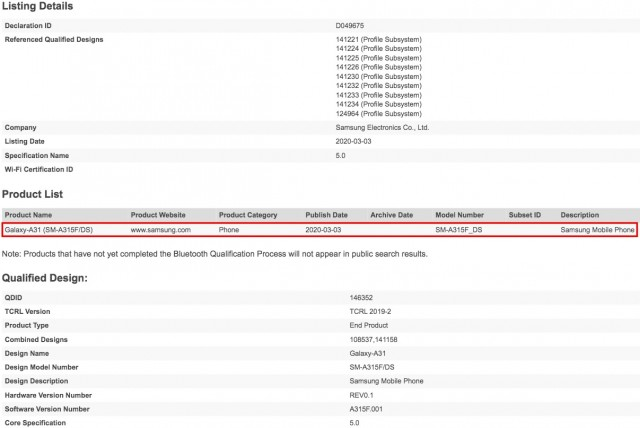 samsung_galaxy_a31_mendapat_sertifikasi_bluetooth