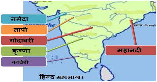 भारत की 35 प्रमुख नदी एवं सहायक नदियाँ