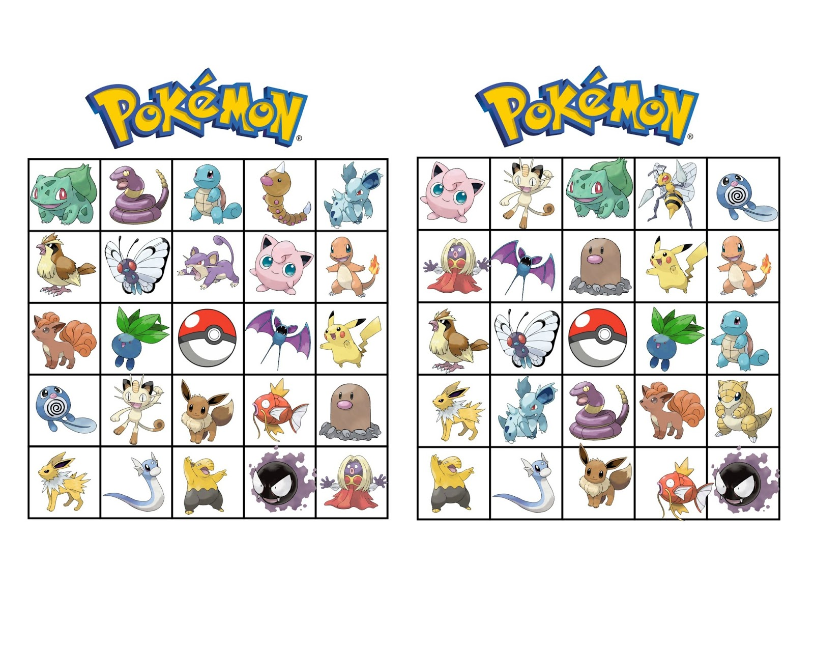photograph about Free Printable Pokemon referred to as Musings of an Common Mother: Pokemon Bingo