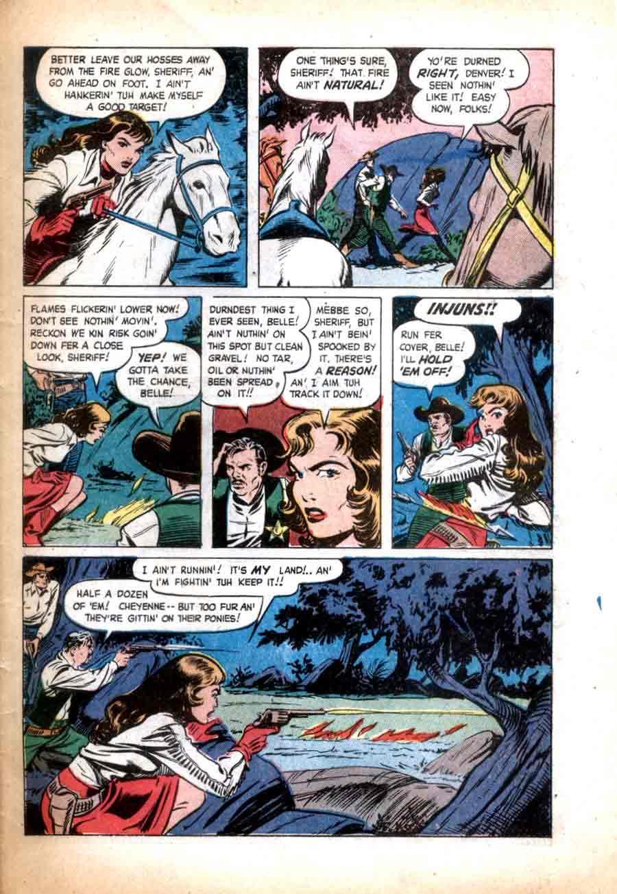 Matt Baker golden age 1950s st. john western comic book page - Texan #4