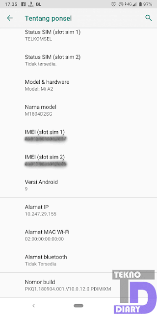 cara cek IMEI android