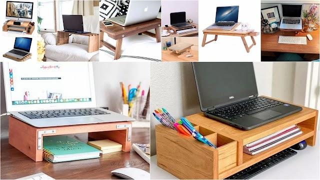 DIY Κατασκευές σταντ γραφείου για laptop