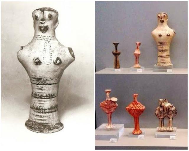 """Η """"γυναίκα με το μούσι"""": Το σπάνιο ειδώλιο που ανακαλύφθηκε στις Μυκήνες - H σχέση του με την Ιλιάδα του Ομήρου"""
