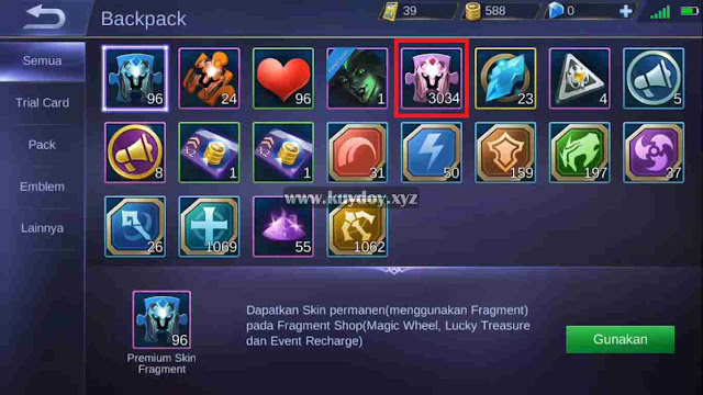 Script 3034 Rare Fragment Mobile Legends Gratis Patch Terizla