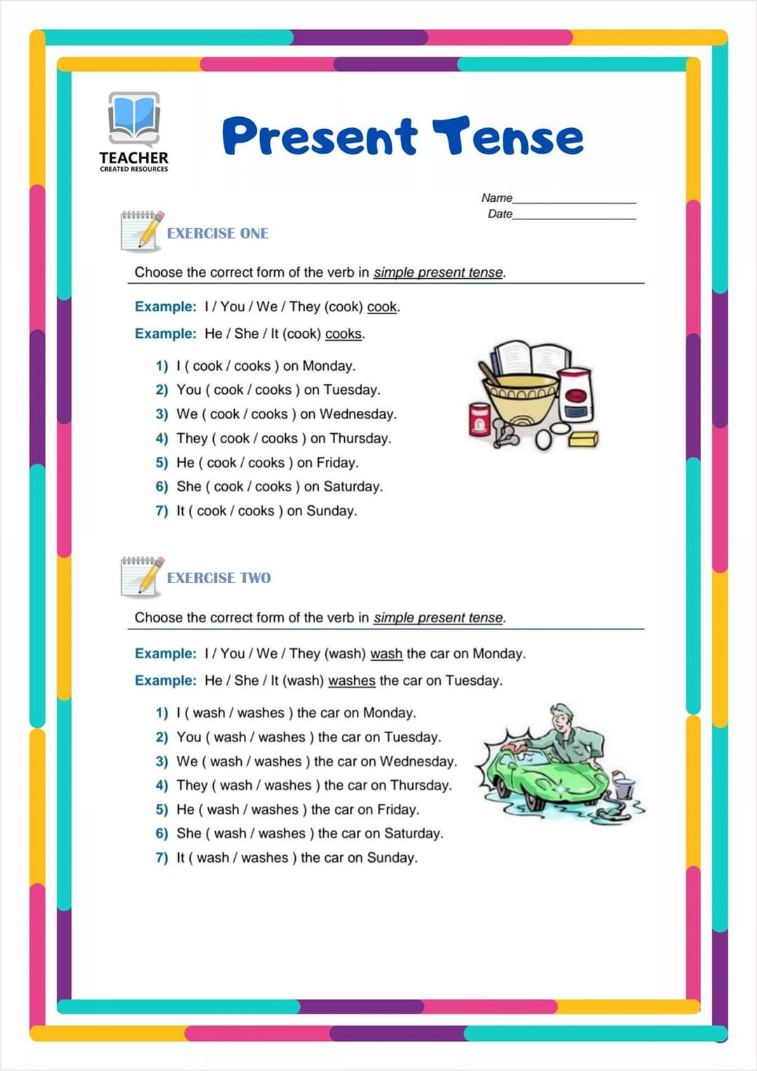 Grammar Worksheets Present Simple Exercises 1 14