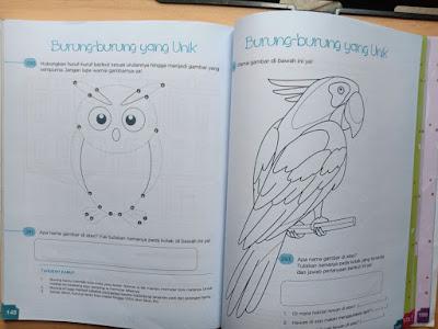 belajar mewarnai burung