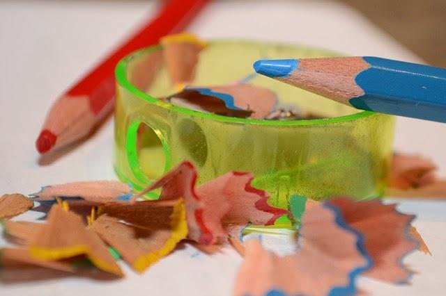 Apontar os lápis de cor