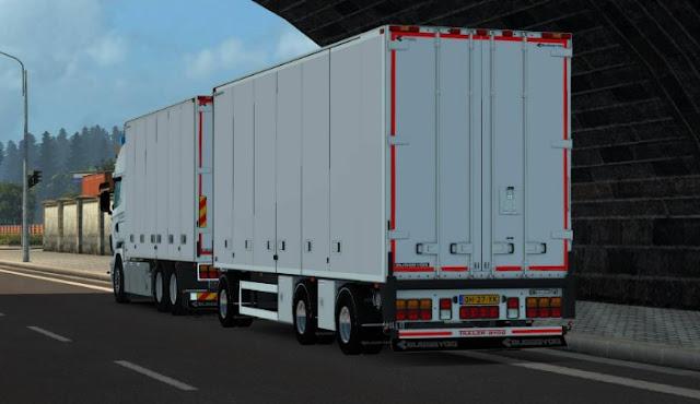 gambar truk gandeng box yang besar