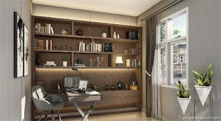Interior Design StudyRoom Rumah Visana The Savia BSD