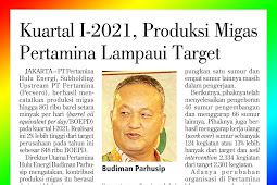 First Quarter of 2021, Pertamina's Oil and Gas Production Exceeds the Target