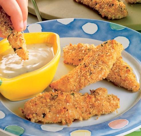 Crispy Parmesan Chicken Strips #healthydiet #lowcal